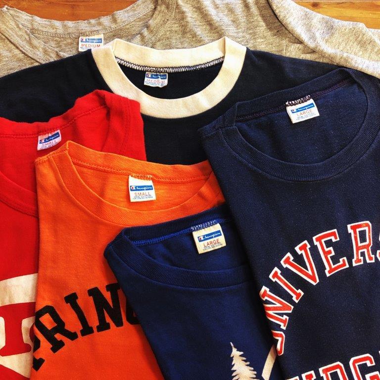 チャンピオンなどヴィンテージの買取りは古着屋NEXT貝塚店、大阪、和歌山